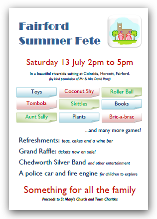 Summer Fete 13th July